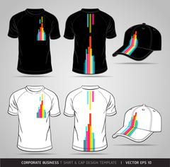 Corporate Identity Business Set. T-shirt and cap Design Template. Vector Stock Illustration