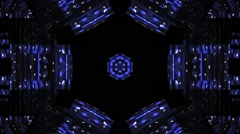 Disco Kaleidoscope Vj Loop Motion Buckground Blue Stock Footage