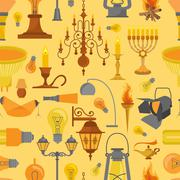 Lighting seamless pattern Stock Illustration