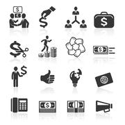 Business icons, management and human resources set. Stock Illustration