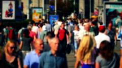 Crowd of People / Commuters Walking / Busy Street Stock Footage