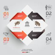 Abstract infographic business stock exchange template. Vector illustration. c Stock Illustration