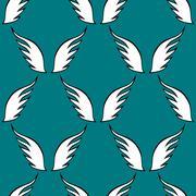 Angel white wings sketch pattern Stock Illustration