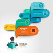 Education Infographics step option. Vector illustration. Stock Illustration