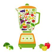Fruits and vegetables. Nutrition. Icon set Stock Illustration