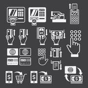 ATM icons. Vector illustration. Stock Illustration