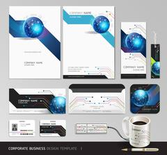 Corporate identity business set design. Abstract background. Stock Illustration