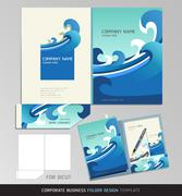 Corporate Identity Business Set. Folder Design Template. Vector illustration. Stock Illustration