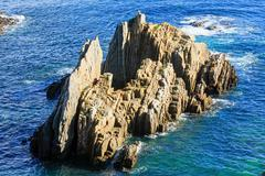 Atlantic Ocean coastline landscape (Spain). Stock Photos