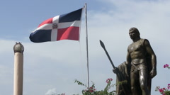 Enriquillo monument Stock Footage