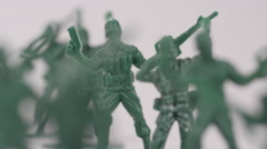American Military - Symbolic toy soldiers made of plastic Stock Footage