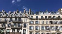 Paris Buildings Famous Architecture Establishing Shot, 4k Stock Footage