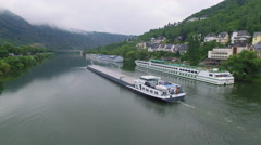 River Cruise in Europe Stock Footage