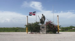 View of the monument Enriquillo Stock Footage