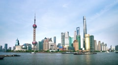 Shanghai the bund skyline Stock Footage