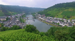A view of the medieval town of Cochem, Germany Stock Footage