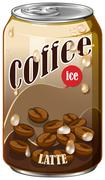 Ice coffee in aluminum can Stock Illustration