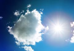 Photo sun sky and clouds Stock Photos