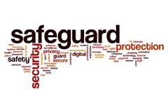 Safeguard word cloud Stock Illustration