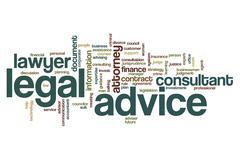 Legal advice word cloud Stock Illustration