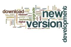 New version word cloud Stock Illustration