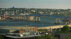 Saint John, NB. Canada. Harbour Bridge. Stock Footage