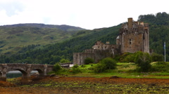 4K UltraHD Timelapse of the picturesque Castle of Eilean Donan in Scotland Stock Footage