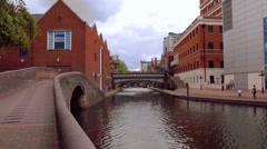 New Canal Side At King Edwards WharfI In Birmingham West Midlands Stock Footage