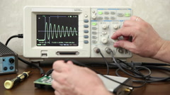 Engineer working with electronic devices Stock Footage