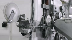 Making springs in a manufacture of mattresses Stock Footage
