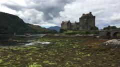 4K UltraHD Beautiful Castle of Eilean Donan in Scotland Stock Footage