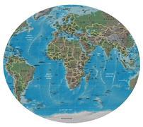 Africa Europe map Stock Illustration