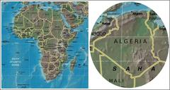 Algeria and Africa maps Stock Illustration