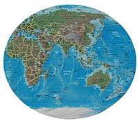 Asia Oceania map Stock Illustration