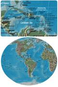 Caribbean and The Americas maps Stock Illustration