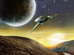 Space adventure Stock Illustration