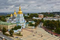 Kyiv, Ukraine - September 7, 2013: View of St. Mikhail's minster chapel Stock Photos
