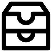 Account Boxes Stroke Vector Icon Stock Illustration