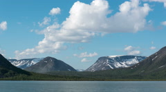 Lake in the mountains 4k Stock Footage