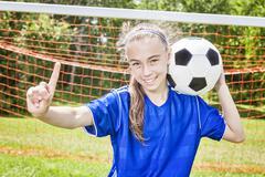Teen Youth Soccer - stock photo