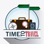 Icon set travel vacations trip. Vector graphic Stock Illustration