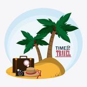 icon set travel vacations trip. Vector graphic - stock illustration