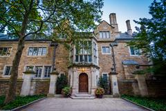 The Swensen House, on the campus of Yale University, in New Haven, Connecticu Stock Photos