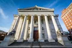 The exterior of the New Haven County Courthouse, in downtown New Haven, Conne Stock Photos