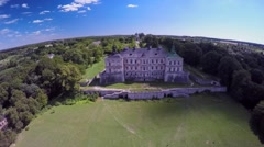 Aerial view of an old castle Stock Footage