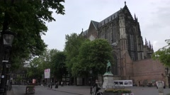 St. Martin's Cathedral, Dom Church Domkerk, Utrecht, Holland - stock footage