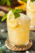 Homemade Boozy Bourbon Whiskey Smash Stock Photos