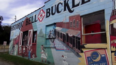 Bell Buckle Tennessee - a small historic town Stock Footage
