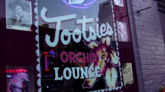 Famous Tootsies Saloon with Orchid Lounge in Nashville Tennessee Stock Footage