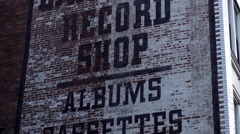 Lawrence Record Shop on Broadway in Nashville Tennessee Stock Footage
